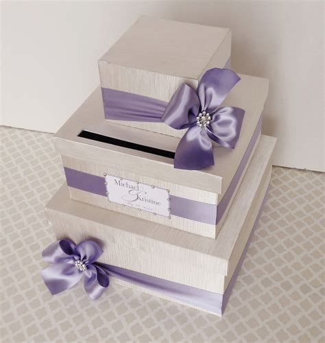 how to make a wedding card holder custom made wedding card box money holder purple wisteria