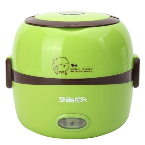 Lunch Box 3 Susun Q2 703 1 3l electric portable lunch box rice cooker steamer 2 layer stainless steel ebay