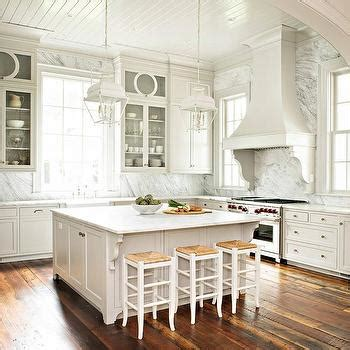 square kitchen islands gray kitchen with gray pinstripe bar stools transitional