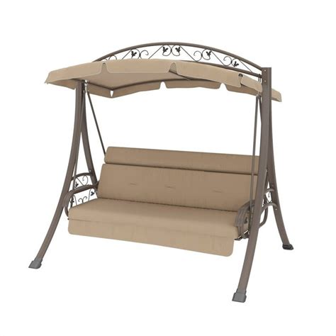 Nantucket Patio Swing Patio Swing With Arched Canopy In Beige Pnt 803 S