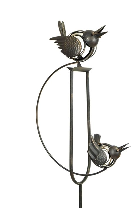 rocking bird garden ornament rocking balancing big birds metal garden wind spinner