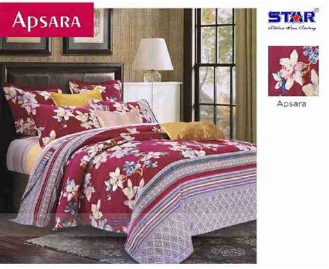 Sprei 16020020 Mahesa Maroon Katun Panca detail product sprei dan bedcover aspara moon toko bunda