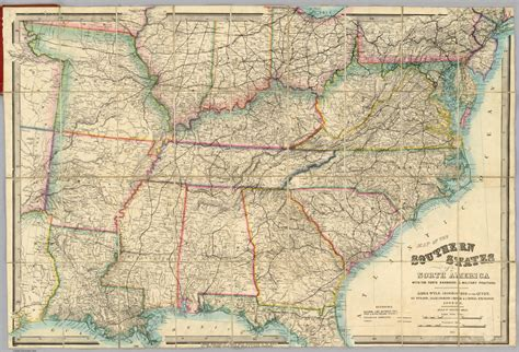 southern states map southern states of america map
