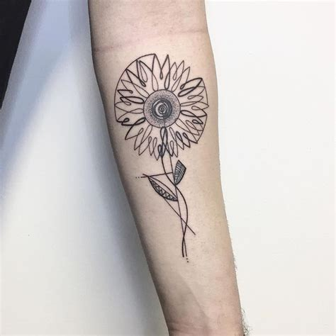 simple sunflower tattoo sunflower meaning and best design ideas