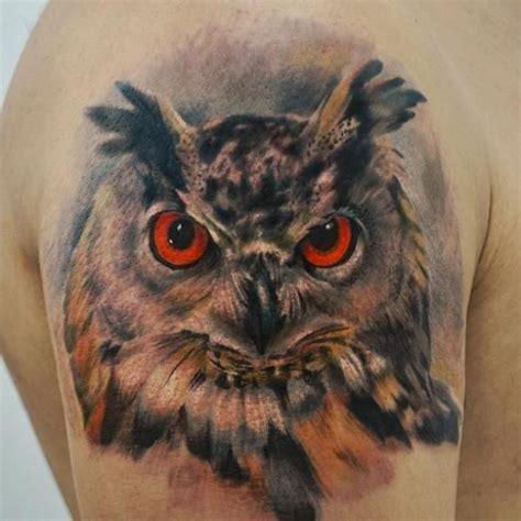 tatouage r 233 aliste hibou sur le bras tatouage animaux