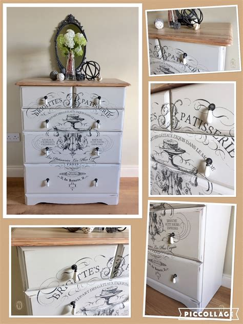 striking french transfer  iod   pine chest  drawers