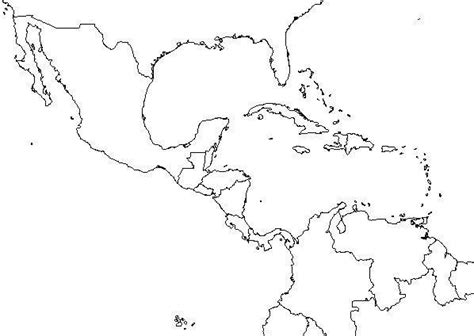 fill  blank maps   world central america