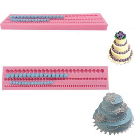 fondant bead mould 3d bead pearl silicone fondant mold cake edge decoration