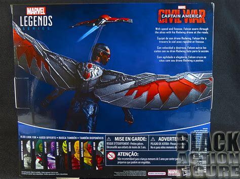Hasbro Marvel Legends Civil War Series Falcon review hasbro marvel legends series 3 75 captain america civil war falcon