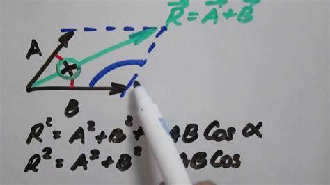 Ley De Cosenos Vectores | suma de vectores ley del coseno explicaci 243 n youtube
