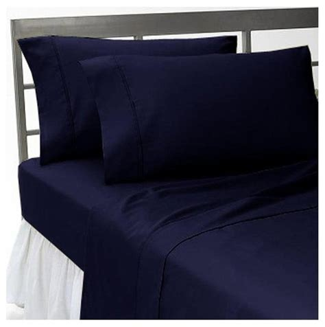 navy blue bed sheets 1000tc solid king size navy blue color sheet set