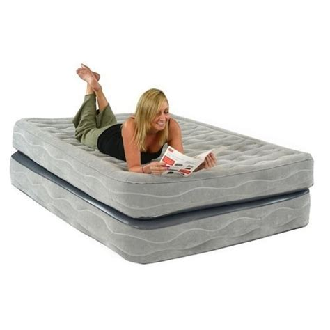 raised air mattress smart air beds chion raised air bed with built in gray
