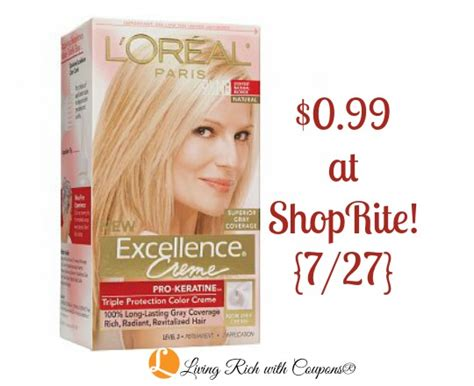 loreal hair color coupon l oreal coupon l oreal excellence hair color just 0 99