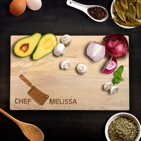 personalized chef knives personalized cutting board wedding gift chefs knife chef name