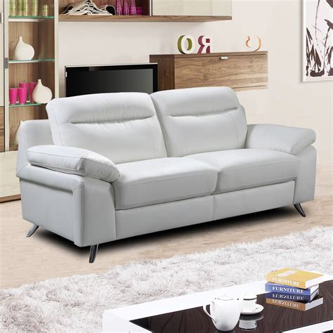 sofa couch or settee nuvola italian inspired modern white leather sofa collection