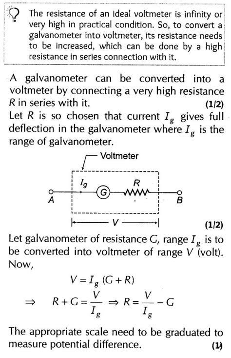 conversion of galvanometer into voltmeter circuit diagram important questions for cbse class 12 physics magnetic