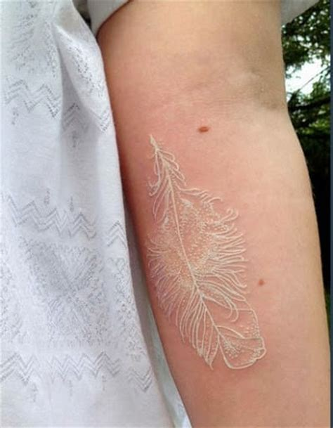 white tattoos on white skin 65 fabulous photos of white ink tattoos for the artistic