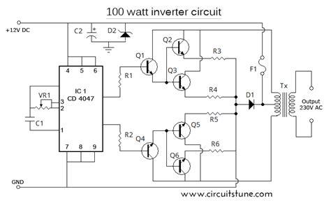 24v inverter circuit diagram 12v to 230v 100w inverter circuit diagram circuit