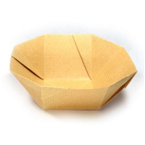 Easy Origami Bowl - how to make a simple origami bowl page 1