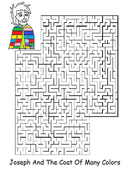 Free Coloring Pages Of Joseph Interprets Joseph Coat Of Many Colors Activity