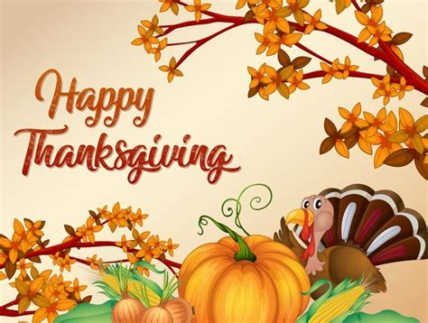 thanksgiving card template happy thanksgiving card template free vector