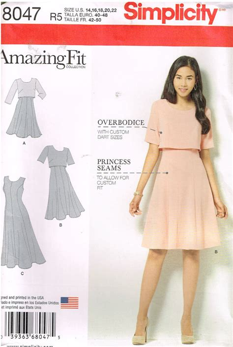 pattern review simplicity amazing fit simplicity 8047 sewing patternamazing fit misses by