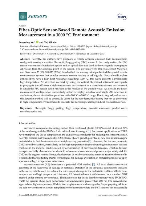 (PDF) Fiber-Optic Sensor-Based Remote Acoustic Emission