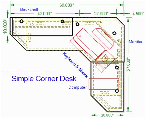 Simple Corner Desk Top View Http Woodwaredesigns Com Corner Desk Blueprints