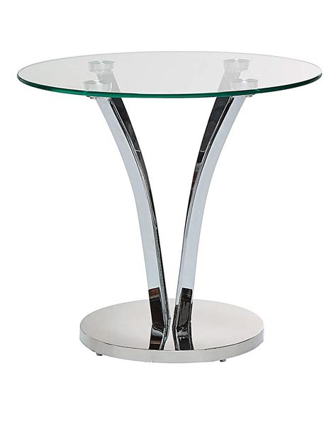 Glass And Chrome Side Table Buy Cheap Glass Side Table Compare Tables Prices For Best Uk Deals