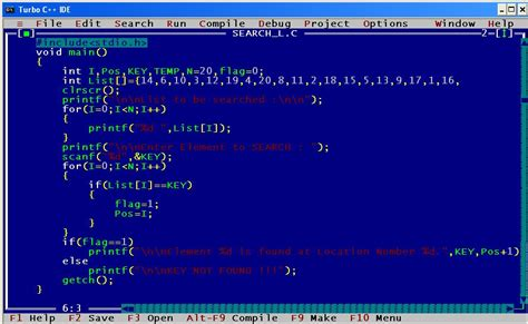 Search Programs A C Program For Linear Search In 20 Distinct Numbers For Key Computer Science