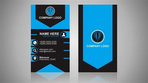 Corel Templates Business Cards by Vertical Business Card Design Coreldraw Tutorial