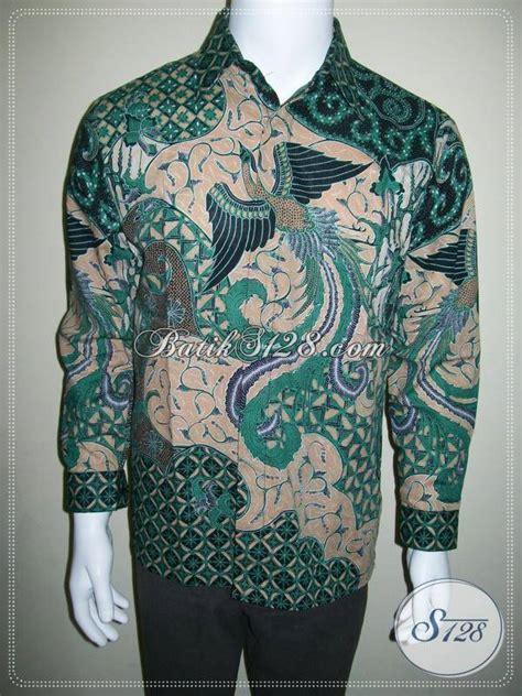 Hem Batik Wayang Pandawa Tosca Batik Cabut Warna kemeja batik lengan panjang batik motif burung warna hijau lp420ct m toko batik