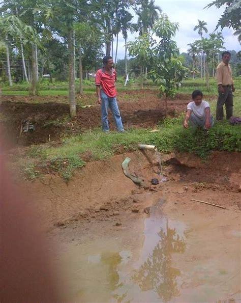 Pembuat Gundukan Tanah cara membuat kolam tanah untuk budidaya ikan binatang peliharaan