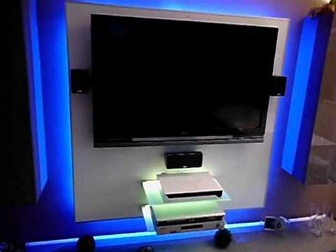 tv wand mit rgb led beleuchtung youtube