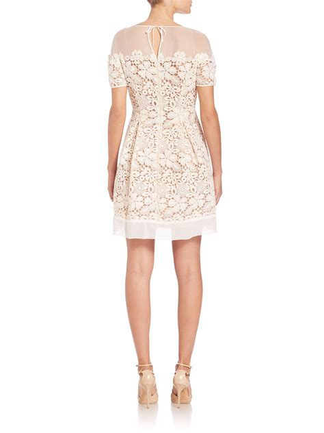 Macrame Lace - alberta ferretti macrame lace illusion dress in lyst