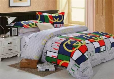 gucci bed light in net designer bed cover set
