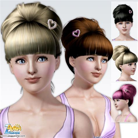 love knots hairstyle love top knot hairstyle id 18 by peggy zone sims 3 hairs