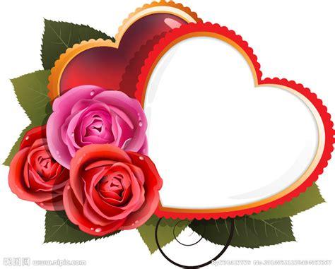 玫瑰爱心卡片设计矢量图 边框相框 底纹边框 矢量图库 昵图网nipic com