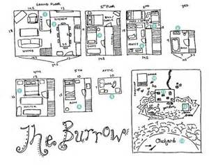 the burrow floor plan floorplan to the burrow harry potter fandom pinterest