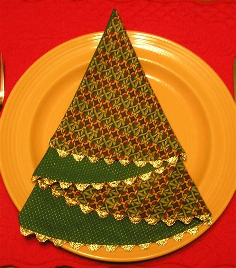 christmas tree table napkins pattern sewing christmas sewing projects