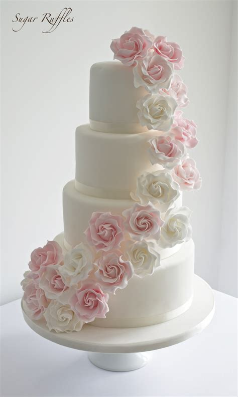 Wedding Cakes Roses sugar ruffles wedding cakes barrow in furness