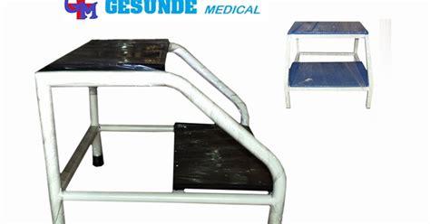Ranjang Periksa tangga ranjang periksa foot step besi toko medis jual