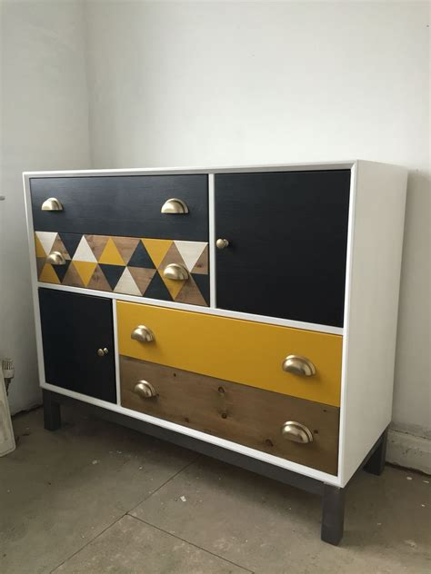 ikea nornas hack ikea nornas chest of drawers hack yellow grey geometric