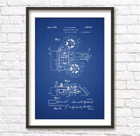 film blueprint film projector blueprint patent wall art poster this
