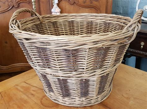 french harvesting basket miguel meirelles antiques
