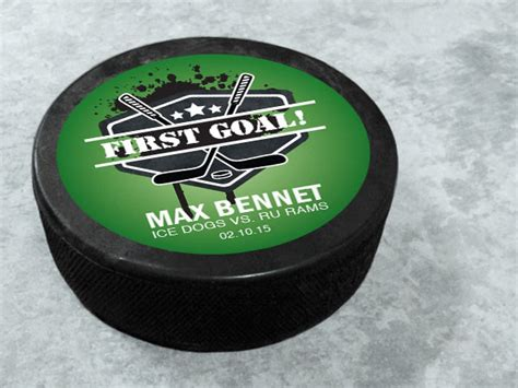 Hockey Puck Stickers And Labels Templates Stickeryou Products Hockey Puck Sticker Template