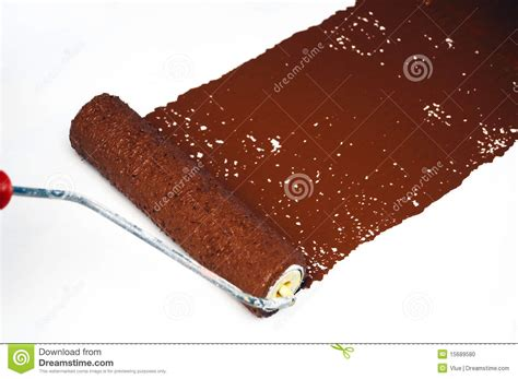 brown paint brown paint roller stock photo image 15689580