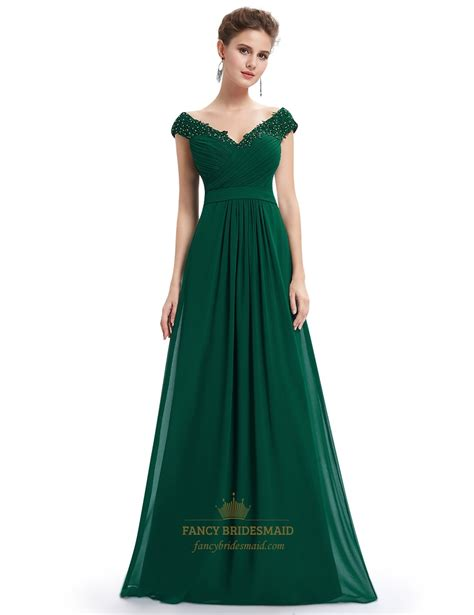 P156 L Dress Lace Green emerald green v neck bridesmaid dresses with beaded lace