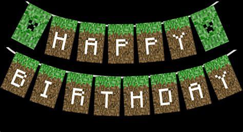 printable happy birthday minecraft banner profile minecraft guild clan website hosting