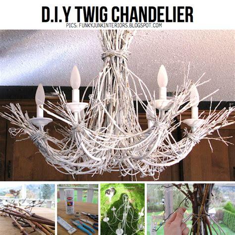 Twig Chandelier Diy Branch Chandelier